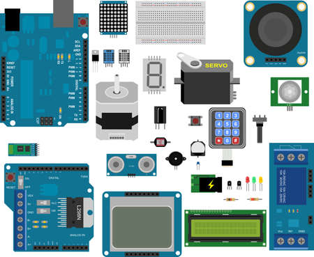 Arduino electronic elements Иллюстрация