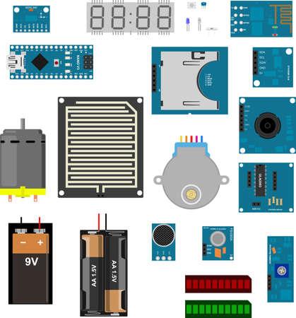 componentes electronicos: Componentes electr�nicos para aplicaciones prototipo