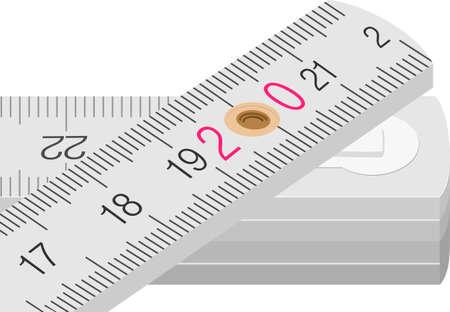 cintas metricas: Medida de Madera Vectores