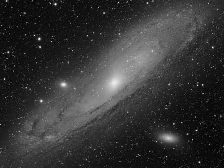 andromeda: M31 the Great Galaxy in Andromeda Constellation