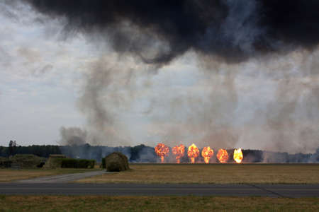 area of conflict: The explosions at a military range