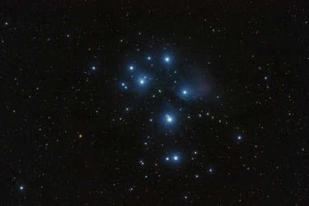 The Pleiades - the best known open cluster in the sky Standard-Bild