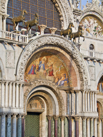 st  marks square: Entrance to St. Marks Basilica in Venice, Italy