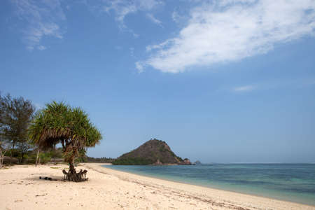 lombok: Tropical beach of Kuta, Lombok, Indonesia Stock Photo