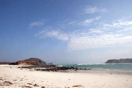 Tropical beach of Kuta, Lombok, Indonesia Stock Photo