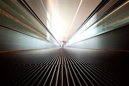 Moving escalator on a airport Stock Photo - 5700465