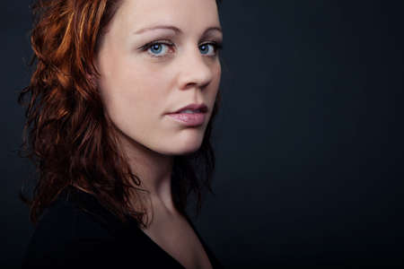 Portrait of a woman with red hair Stock Photo