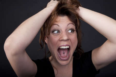 Portrait of a screaming woman Stock Photo - 6116152