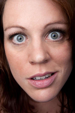 Portrait of a funny looking young woman Stock Photo
