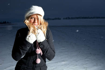 Woman outdoor in the snow Stock Photo - 6403391