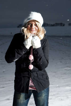 Woman outdoor in the snow