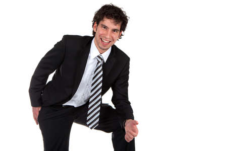 happy young business man photo