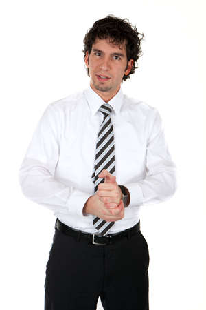 positive young business man