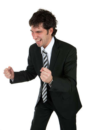 happy young business man Stock Photo