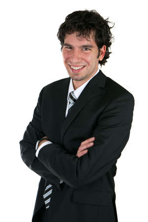 smiling young business man photo