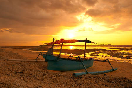 beautiful sunset on a island in Indonesia Stock Photo - 6385819