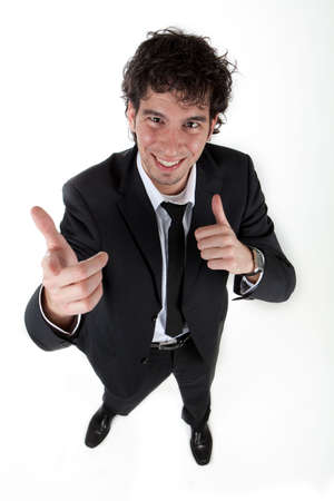 happy young business man Stock Photo - 6807074