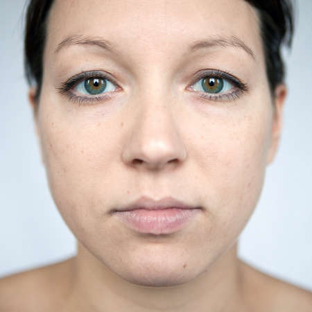 Frontal portrait of a woman Stock Photo - 8871003