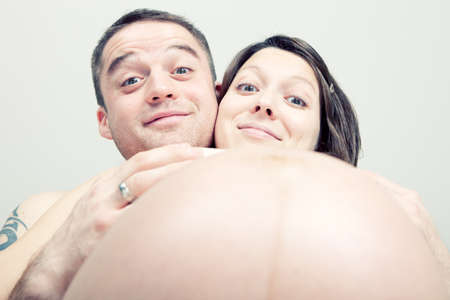 Happy and funny about pregnancy Stock Photo - 8870994