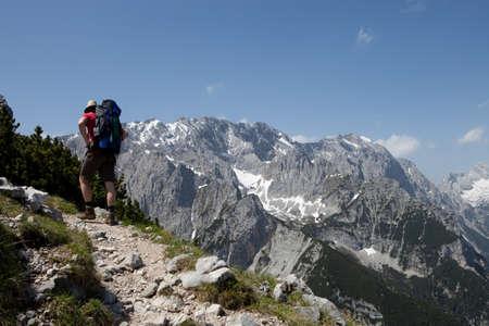 Walking up the mountain
