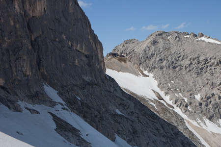 Look towards the Meilerhut on the border of Germany and Austria