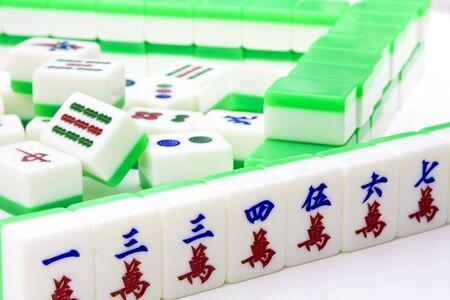 Chinese game similar to poker. Very popular gambling game. photo