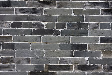 It is a chinese green brick background. photo
