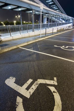 overpass: an overpass specially for the wheelchair people
