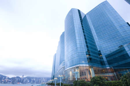 Modern skyscraper building on Hong Kong Island  photo