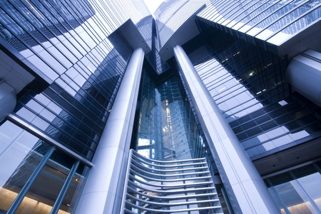 it is a modern  building in hong kong Stock Photo - 7009791