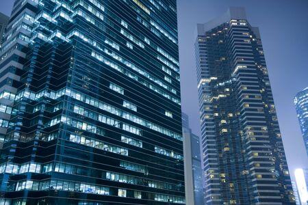 Modern skyscraper building on Hong Kong Island