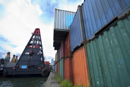 commercial container port  photo
