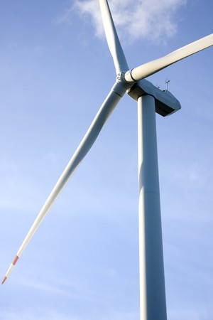 wind turbine generating electricity on blue sky Stock Photo - 7517449