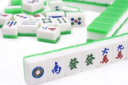 Mahjong, very popular game in China photo
