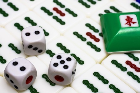 Mahjong - asian game with dices Stock Photo - 7600930