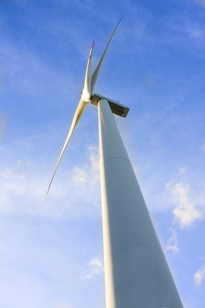 wind turbine generating electricity on blue sky  Stock Photo - 7600982