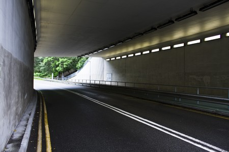 highway tunnel in hong kong at day photo