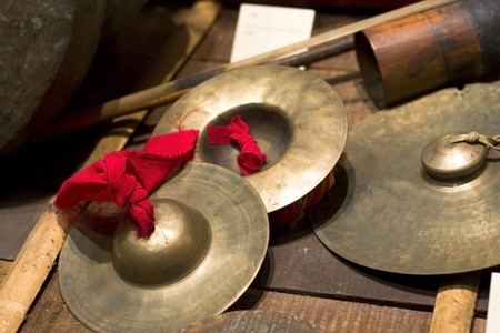 opera: Chinese traditional musical instrument  Stock Photo