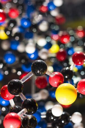 DNA model strands on abstract background  Stock Photo - 7879154