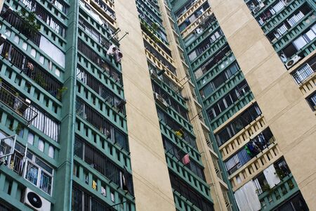 Hong Kong public housing apartment block  photo