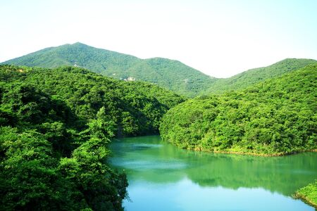 Lake in mountain. Beautiful composition of nature.  photo