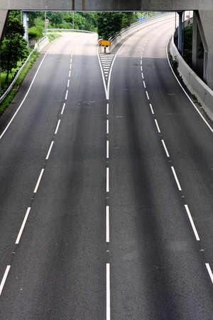 highway and no car moving at day photo