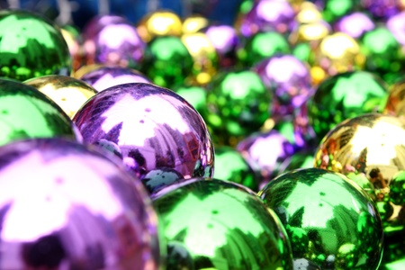 Color balls. bright colors christmas background  photo