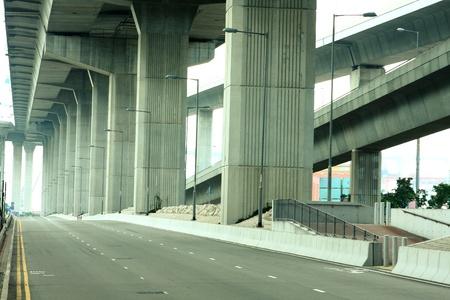 Empty freeway at daytime photo