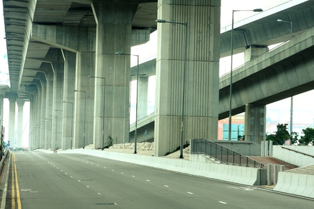 kong river: Empty freeway at daytime