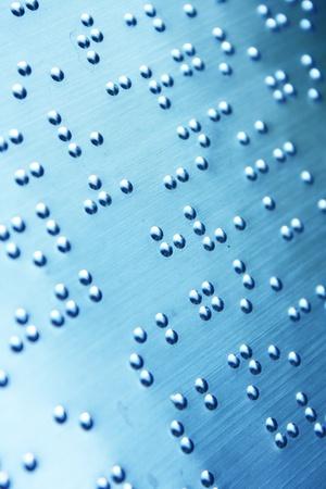 Plain Braille Page Macro Stock Photo - 8515502