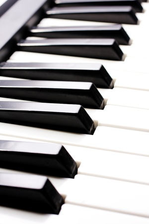 piano close up on the keyboard photo