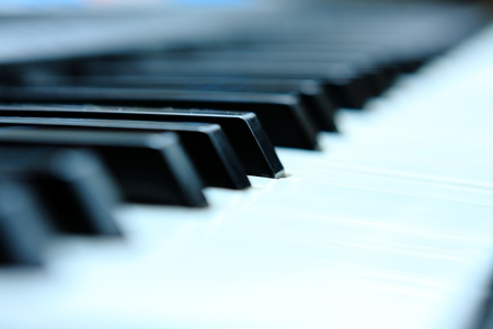 Close-up of a electronic piano keyboard photo