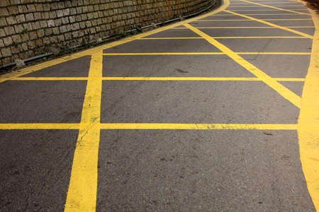 road with yellow lines  photo