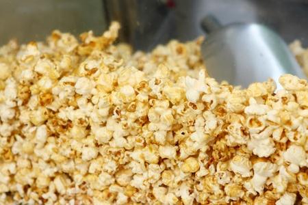 Image of pop corn closeup  photo